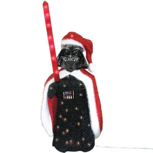 Kurt Adler Darth Vader 3D Tinsel Lawn Seasonal Décor, 28-Inch