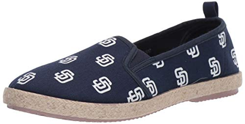 - FOCO MLB San Diego Padres Women's Espadrille Canvas Shoes, Large, Team Color