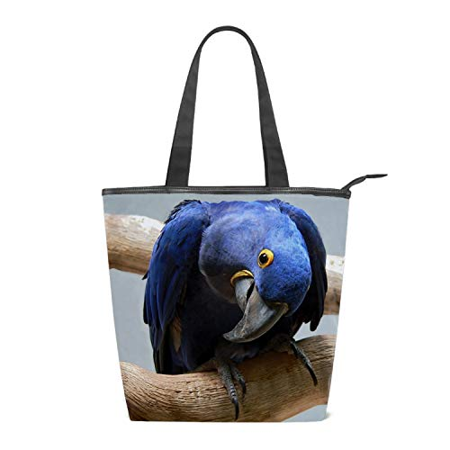 Shopping Bag Animal Hyacinth Macaw Birds Grocery Canvas Tote -