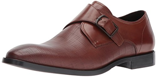 Kenneth Cole New York Mens Golden Ticket Monk-strap Fannullone Cognac