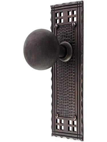 (Arts & Crafts Passage Door Set in Oil-Rubbed Bronze )