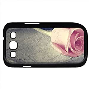 Pink Note (Flowers Series) Watercolor style - Case Cover For Samsung Galaxy S3 i9300 (Black)