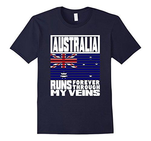 Blues Brothers Costume Australia (Mens Australia PUERTO RICO runs My Veins Retro Flag T Shirt Medium Navy)