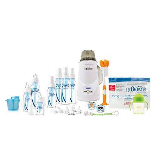 Deluxe All In One Diaper - Dr. Brown's Baby Bottles All in One Gift with Deluxe Bottle Warmer