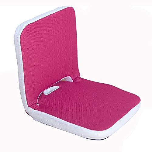 LJFYXZ Silla Tumbona Plegable Meditación Individual sofá Perezoso Ajuste de Velocidad múltiple Plegable fácil de Cargar Malla Transpirable Dormitorio Sala de Estar 2 Colores (Color : Rosa roja)