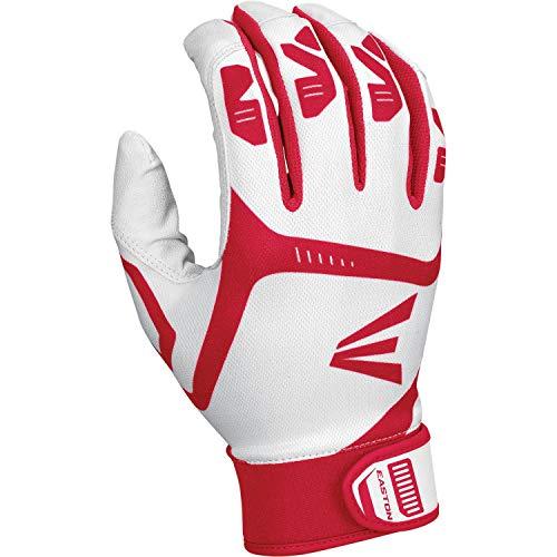 EASTON GAMETIME Batting Glove | Pair | Baseball Softball | Adult | Small | Black | 2020 | Smooth Goatskin Palm | Extra Durable Synthetic Thumb | Flexible 4 Way Stretch Mesh Back | Neoprene Strap (Iv Adult Batting Gloves)