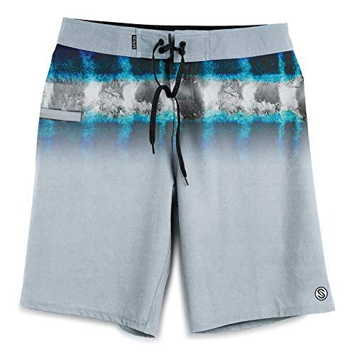 - Scales Hoo Stripes Boardshorts - Wahoo