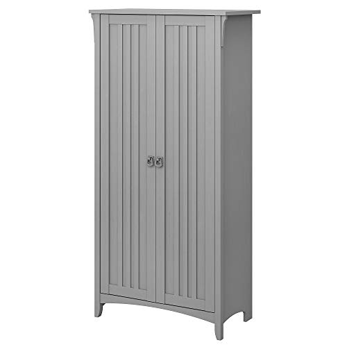 Bush Furniture Salinas Kitchen Pantry Cabinet with Doors in Cape Cod Gray (Kitchen Cabinets Furniture)