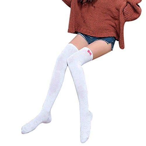 Winterkousen Voor Dames, Bijv. Mijn Nieuwste Dames Winterwarme Katoenen Sokken Voor Dames Over De Been, Wit