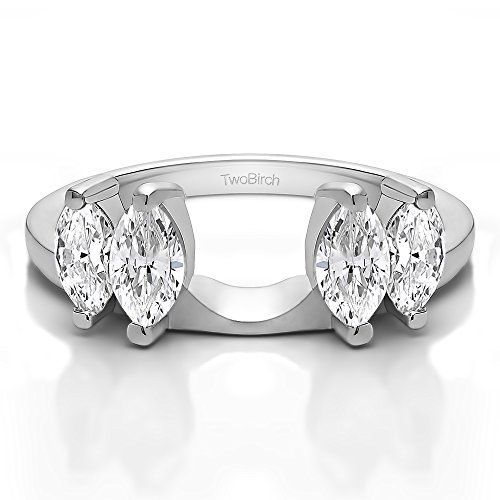 Diamond Marquise Solitaire Enhancer Ring Wrap 14K Gold GH SI2 I1(0.32Ct) Size 3 To 15 in 1/4 Size Interval
