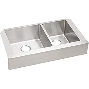 Marvelous Elkay ECTRUF32179R Crosstown 60/40 Double Bowl Apron Front Stainless Steel  Kitchen Sink
