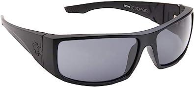 SPY Optic Cooper XL Wrap Sunglasses Matte Black Gray Polar