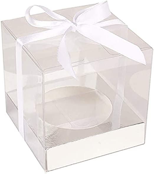 Rapoyo - Caja Transparente para Cupcakes, Caja de Regalo de ...