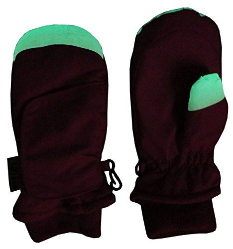 N'Ice Caps Kids Easy On Wrap Waterproof Thinsulate Winter Snow Mitten (5-6 Years, Glows in the Dark/Black)