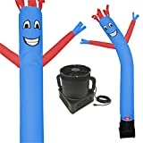 7 Foot Inflatable Dancing Wacky Air Tube Man - Sky Guy Comes Complete with Puppet Dancer Balloon and Blower Included (Blue Body with Red Arms)