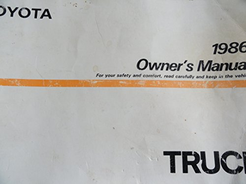 1986 Toyota Truck Owners Manual