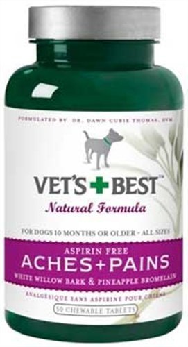 Veterinarian's Best Aspirin Free Aches & Pains Formula Chewable Tablets, 50 Count (2 PACK)
