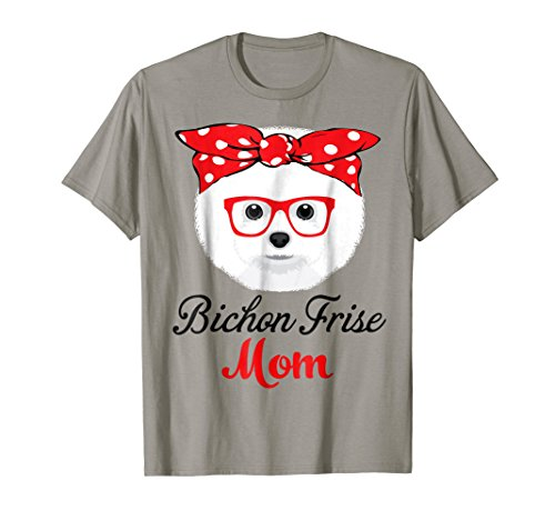Funny Hanging With Bichon Frise Mom T Shirt For Women