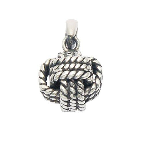 Wild Things Stainless Steel Monkey's Fist Knot Pendant (Monkey Fist Knot Keychain)