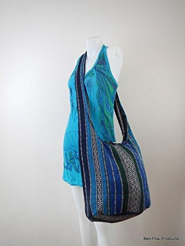 Purse BTP Hobo Bag Hand Messenger Woven A78 Ikat Crossbody Multicolor Cotton Thai Sling Hippie Hqq1aI