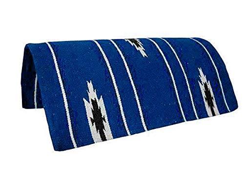 Pony Saddle Blanket - Tahoe Tack Navajo Acrylic Hand Woven Pony Saddle Blanket Pad 26 X 26 - Blue