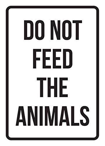 iCandy Products Inc Do Not Feed The Animals No Parking Business Safety Traffic Signs Black - 7.5x10.5 - Metal