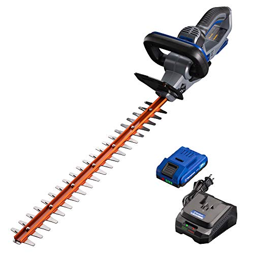 Westinghouse Cordless 24″ Long, Dual Action Hedge Trimmer with 2.0 ah Lithium Battery and Rapid Charger Included