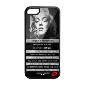 Fashion Sexy Marilyn Monroe iPhone 5C Black Case Cover