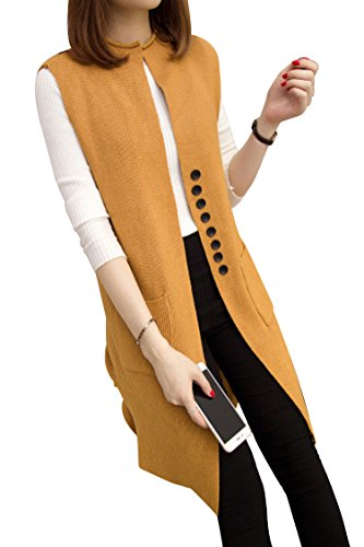 Sovoyant Sleeveless Cardigan Jersey Sweater