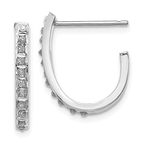 nd Fascination Hoop Post Stud Earrings Ear Hoops Set Fine Jewelry For Women Gift Set ()