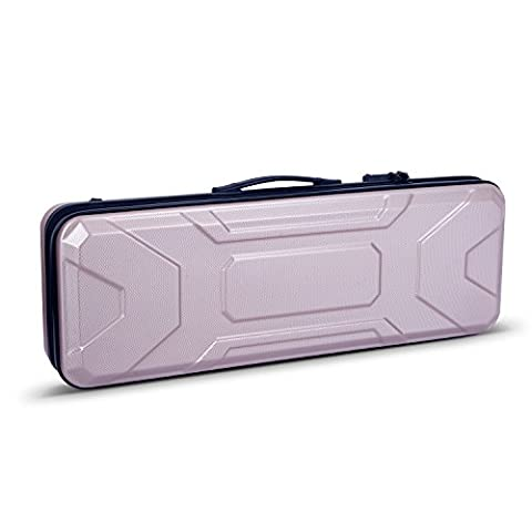 Crossrock CRA400VFCH 4/4 Full Size Violin Case, Zippered ABS Molded Backpack Style in Champagne (Violin Case 4 4 Hard)