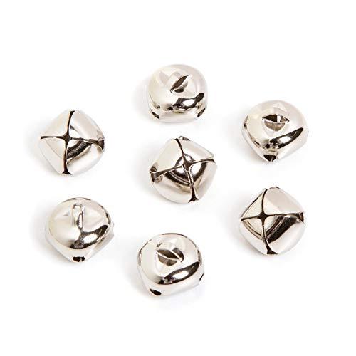 Bulk Buy: Darice DIY Crafts Jingle Bell Silver 2 inches (6-Pack) 1090-19