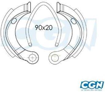 Motodak machoire Frein Cyclo teknix AV//AR grimeca Compatible avec 103 spx//rcx//MBK d.90