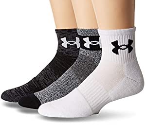 Under Armour Unisex Ua Mens Phenom 3.0 Quarter 3pk, Black/Asst, Large