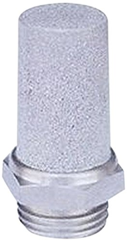 MettleAir SSL-N01 Pneumatic Cone Muffler Filter, Stainless Steel, 1/8'' NPT (Pack of 10) by MettleAir