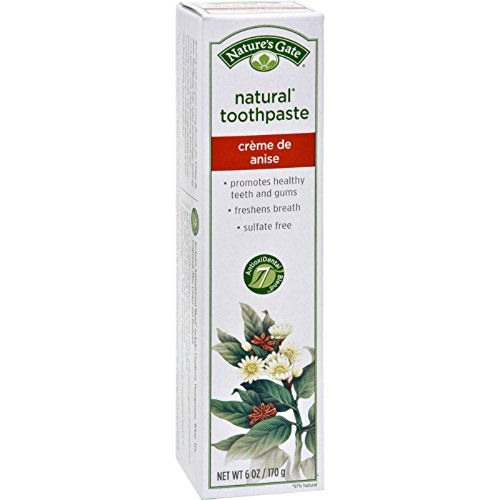 Nature's Gate Natural Toothpaste Creme De Anise - 6 Oz - Case Of (Creme De Anise Natural Toothpaste)