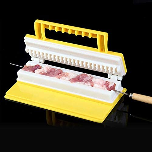 JUSTDOLIFE Machine à Brochettes pour Barbecue pour Machine à Brochettes pour Barbecue Créative Extérieure