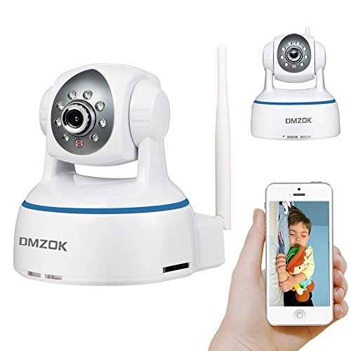 DMZOK1080P WiFi CameraBaby Monitor CameraHome MonitorPan Tilt ZoomTwoWay AudioNight VisionSD Card RecordingRemote Mobile View1080P