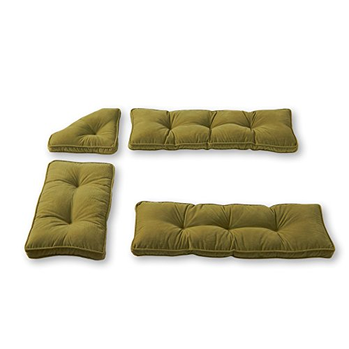 - Greendale Home Fashions Nook Cushion Set, Olive Green, Pack of 4.