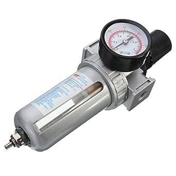 sfr200 Neumático Regulador filtro de aire de tratamiento de fuente del Gas manómetro para compresor de aire: Amazon.es: Industria, empresas y ciencia
