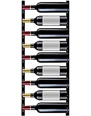 VEVOR Wijnrek Muur 9 Flessen Wijnrek Wandmontage 900 x 150 x 25 mm Muur Wijnflessenhouder met Rek en Siliconen Kop Geschikt voor Huis, Keuken, Bijkeuken, Kast, Eetkamer, Aanrecht, Bar of Wijnkelder