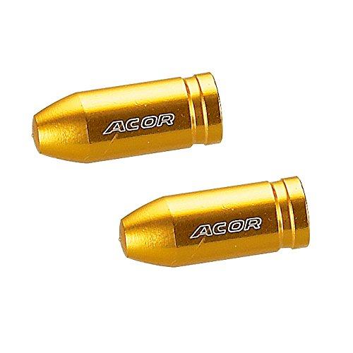 ACOR(エイカー) AOS-21205 アルミバルブキャップ 仏式 イエロー 2個入り