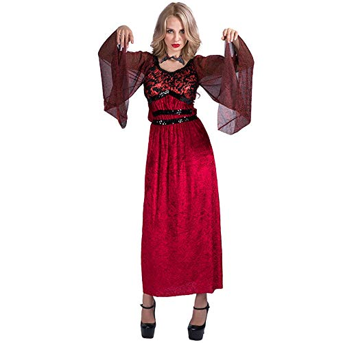 Vampire Costume Clothes Girl Lady Halloween Fancy Dress Masquerade Cosplay Party Performance Decoration M Size]()