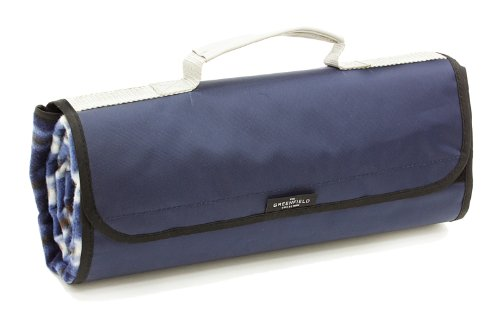 Greenfield Collection Moisture Resistant Luxury Picnic Blanket, Midnight Blue Plaid from Greenfield Collection