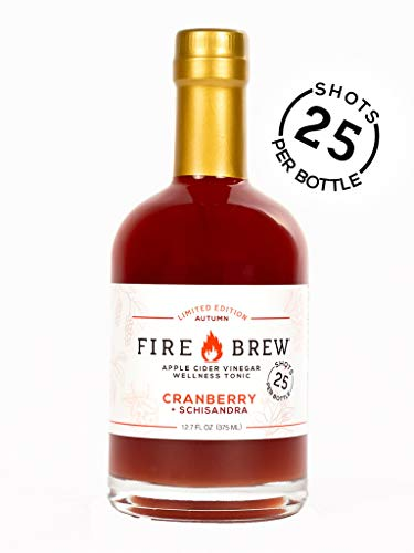 Fire Brew Apple Cider Vinegar Based Health Tonic, Cranberry with Schisandra Limited Edition, 12.7 OZ (25 shots per bottle) (1 bottle)