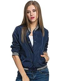Meaneor Women Long Sleeve Short Jacket Classic Quilted Coat Outdoor Hoodies