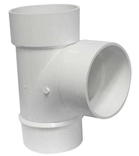 (Canplas 195156 PVC DWV Sanitary Tee, 6-Inch, White)