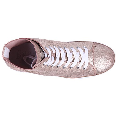 Chaussures Hogan Cuir r182 Rebel en Rebel Femme Baskets Sneakers Or Hautes qTqw5rU