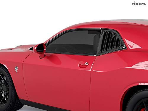 Vicrez LV Quarter Window Louvers vz100861 For Dodge Challenger SRT Hellcat 2008-2019