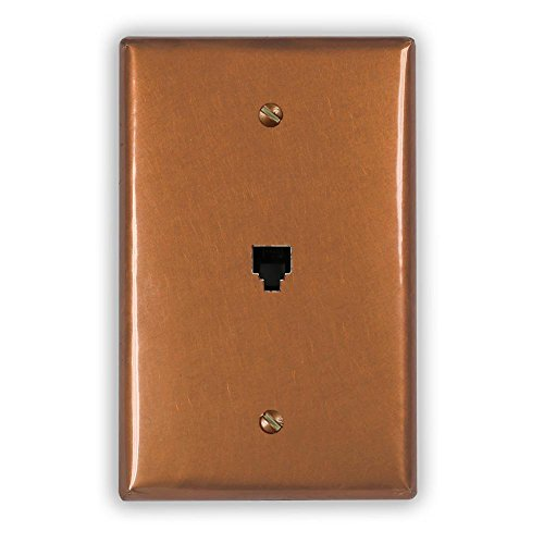 Antique Copper 1 Phone Jack Wallplate by Copper Ventures